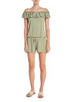 Splendid Striped Coverup Romper