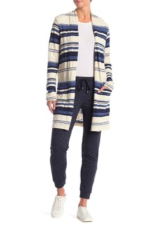 Splendid Striped Double Pocket Cardigan