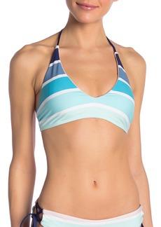 Splendid Striped Halter Bikini Top