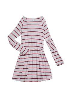 Splendid Striped Jersey Long-Sleeve Dress  Size 7-14