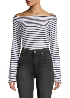 Splendid Striped Off-The-Shoulder Bodysuit