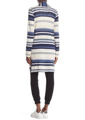 Splendid Striped Open Front Longline Cardigan