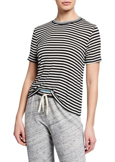 Splendid Striped Tee with Contrast Rib