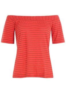 Splendid Striped Top with Bardot Shoulders