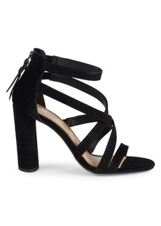 Splendid Stuart Block Heel Suede Sandals