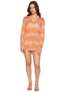 Splendid Sun-Sational Solids Hoodie Tunic Cover-Up