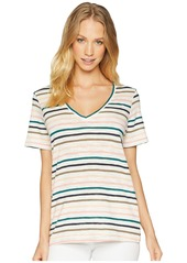 Splendid Sunset Stripe Deep V Tee