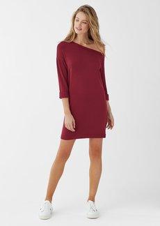 Splendid Super Soft Brushed French Terry Off Shoulder Dress
