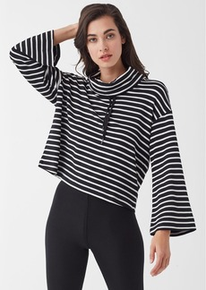 Splendid Super Soft French Terry Neptune Stripe Crop Top