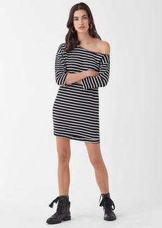 670df33a5d41 Splendid Super Soft French Terry Neptune Stripe Off Shoulder Dress