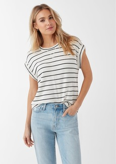 Splendid Super Soft French Terry Stripe Short Sleeve Pullover