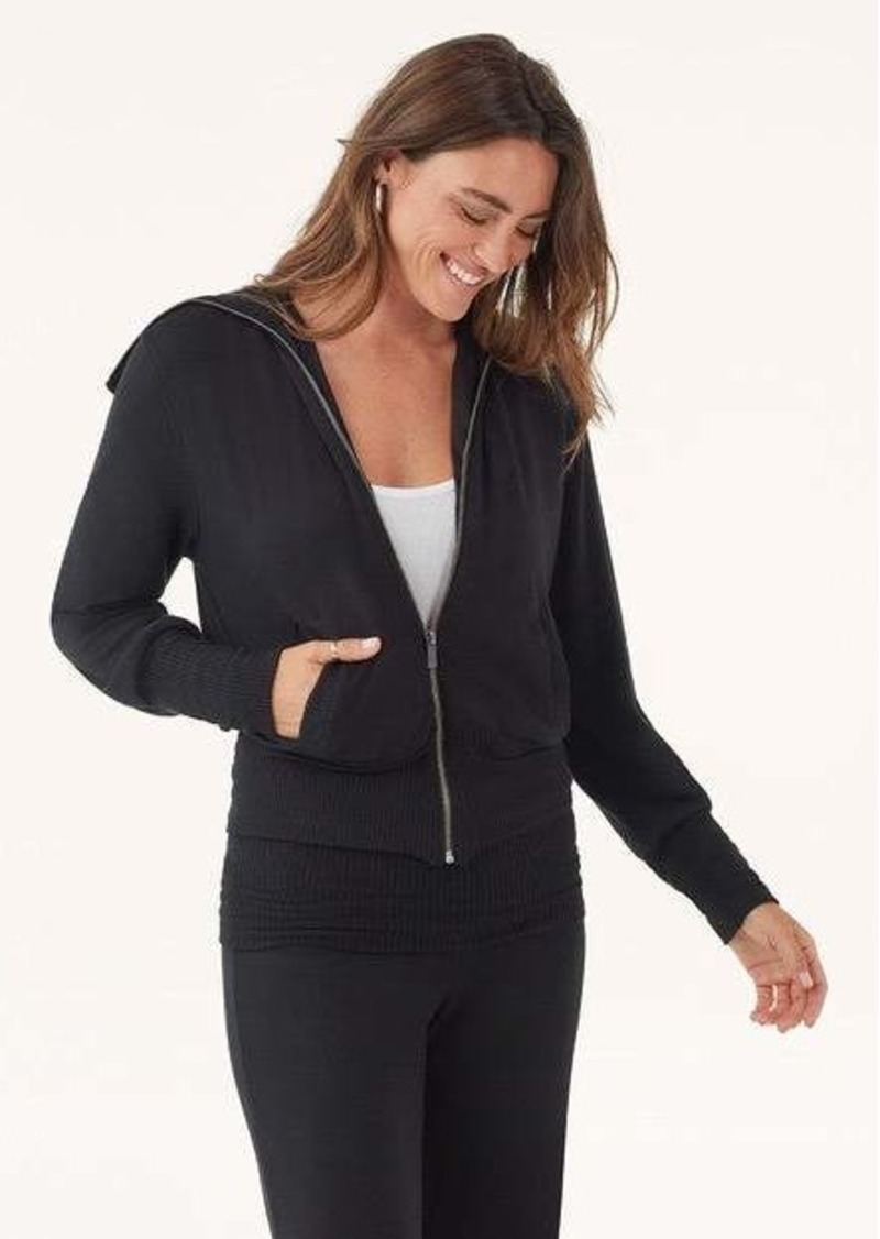 Splendid Super Soft With Rib Zip Up Sweater