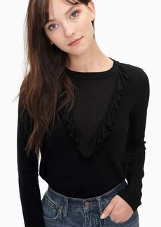 Splendid Sylvie Jersey Feather Rib Ruffle Top