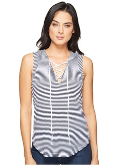 Splendid Taft Point Mini Stripe Lace Up Tank