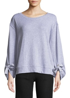 Splendid Tie-Sleeve Pullover Sweatshirt