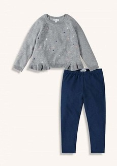 Splendid Toddler Girl Lurex Embroidered Sweater Set