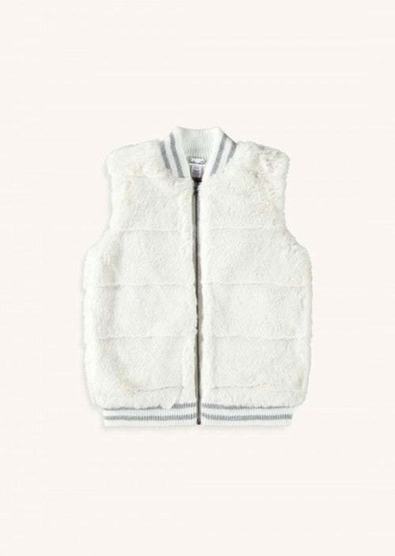 Splendid Toddler Girl Ribbed Fur Vest