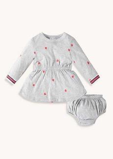 Splendid Toddler Girl Schiffli Heart Dress