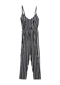 Splendid Traveler Stripe Print Cover-Up Jumpsuit