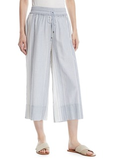 Splendid Tulum Striped Wide-Leg Cropped Pants