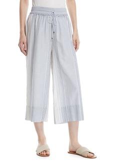 Splendid Tulum Striped Wide-Leg Cropped Pants