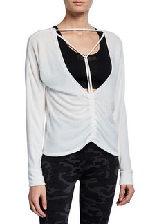 Splendid Two-Way Strappy Ruched Pullover