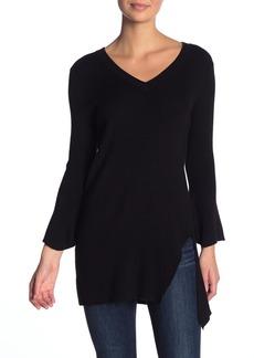 Splendid V-Neck Asymmetrical Side Slit Sweater