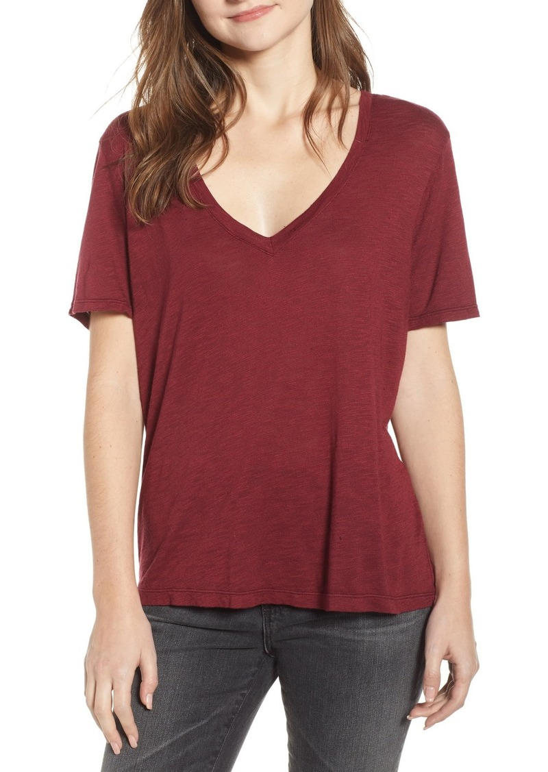 Splendid V-Neck Slub Jersey T-Shirt