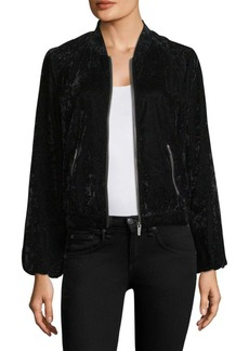 Splendid Velvet Bomber Jacket