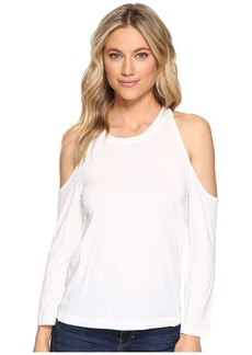 Splendid Very Light Jersey Cold Shoulder Tee