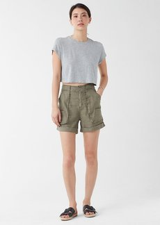 Splendid Very Light Jersey Cropped Tee in Heather Grey