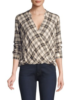 Splendid Willow Voile Plaid Blouse