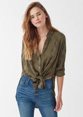 Splendid Willow Voile Treatment Button Up