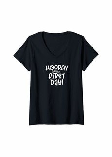 Splendid Womens Hooray for the First Day First Day Back to School V-Neck T-Shirt