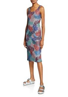 Splendid x Margherita Brillare Floral Metallic Sleeveless Dress