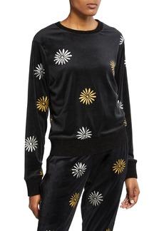Splendid x Margherita Velour Daisy Sweatshirt