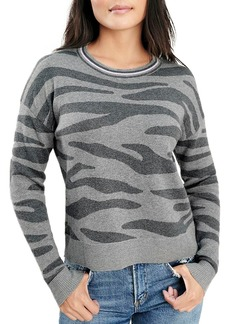 Splendid Zebra Print Long-Sleeve Sweater