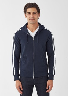 Splendid Zip Up Hoodie with Stripe