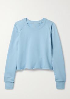 Splits59 Tilda Cropped French Cotton-terry Sweatshirt