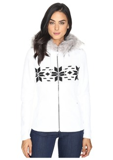 Spyder Soiree Hoodie Faux Fur Mid Weight Core Sweater