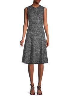 St. John A-Line Tweed Dress
