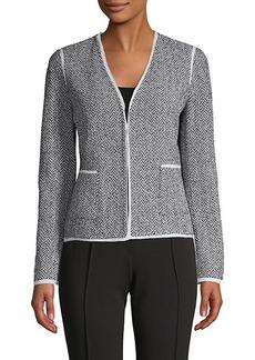 St. John Abby Chevron Tweed Blazer