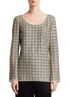 St. John Addison Knit Scoopneck Top