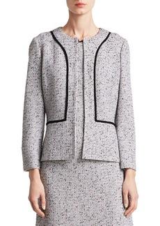 St. John Alca Three-Quarter Tweed Jacket