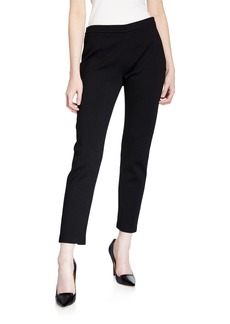 St. John Alexa Stretch Milano Knit Slim Ankle Pants