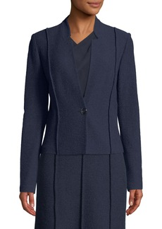 St. John Ana Boucle Knit Seamed Blazer Jacket