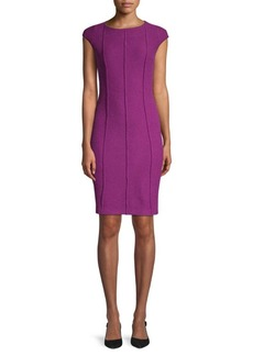 St. John Ana Boucle Knit Sheath Dress