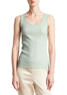 St. John Aria Ribbed Shell Top
