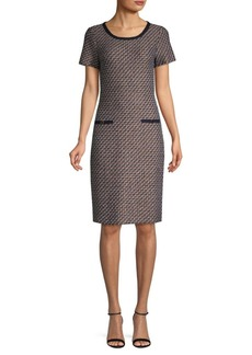 St. John Astor Tweed Sheath Dress