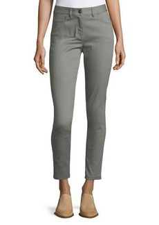 St. John Bardot Double-Stretch Slim-Leg Jeans